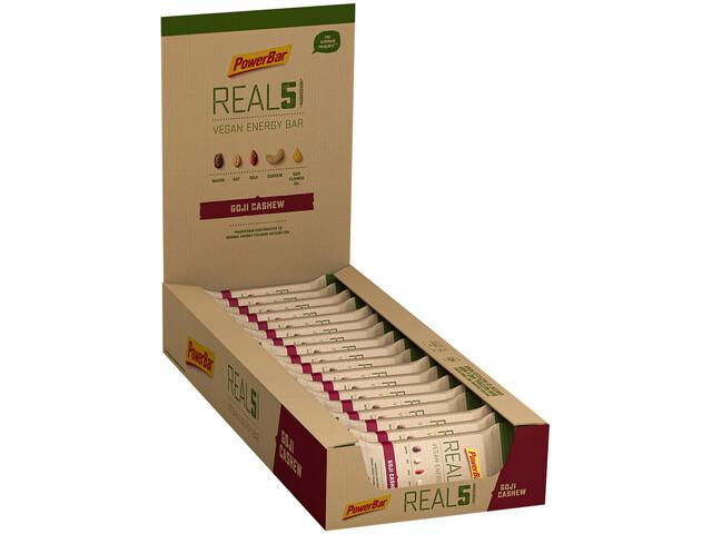 PowerBar REAL5 Bar Box 18x65g, Goji Cashew